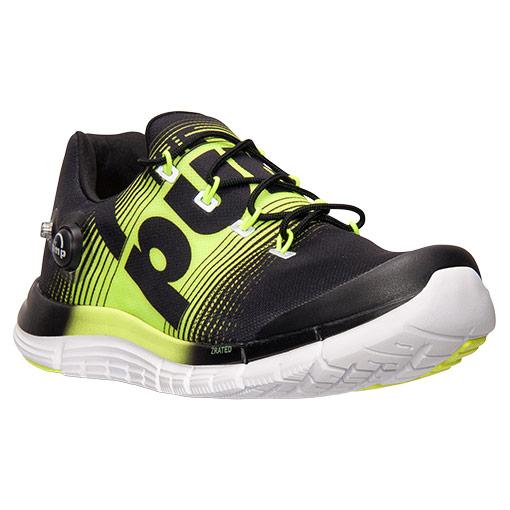 Reebok Z Pump Running Shoes - Black/Yellow
