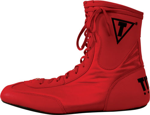 Title Boxing Boots Low_Red