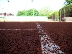 Clay Tennis Court Baseline