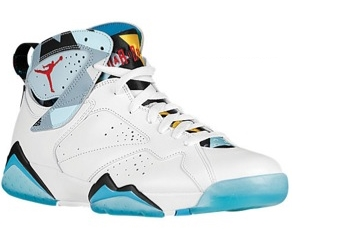 Jordan Retro 7 Turquoise Basketball Shoes