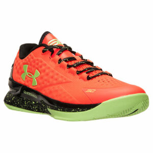 UA Curry 1 Low Orange Basketball Shoes