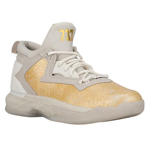 best website 93ac1 1a753 adidas D Lillard 2-White-Gold