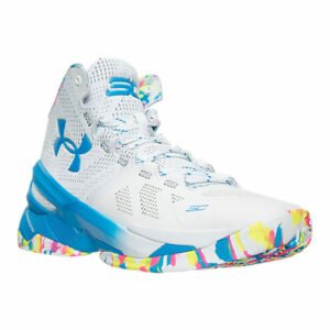 Under Armour Curry 2 White/Pink/Blue