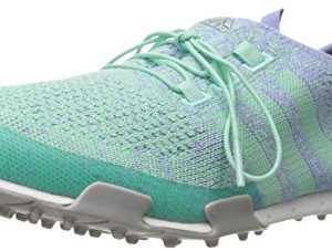 adidas-Womens-Ballerina-Primeknit-Golf-Spikeless-Mint-Burst-TMAGLavender-Mist-TMAGSilver-Metallic5-M-US-0
