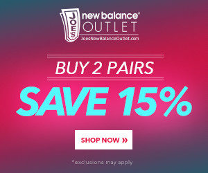 Joes New Balance Outlet 15P off 2 Pair